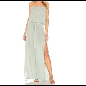 Indah seafoam green pant and tube top set